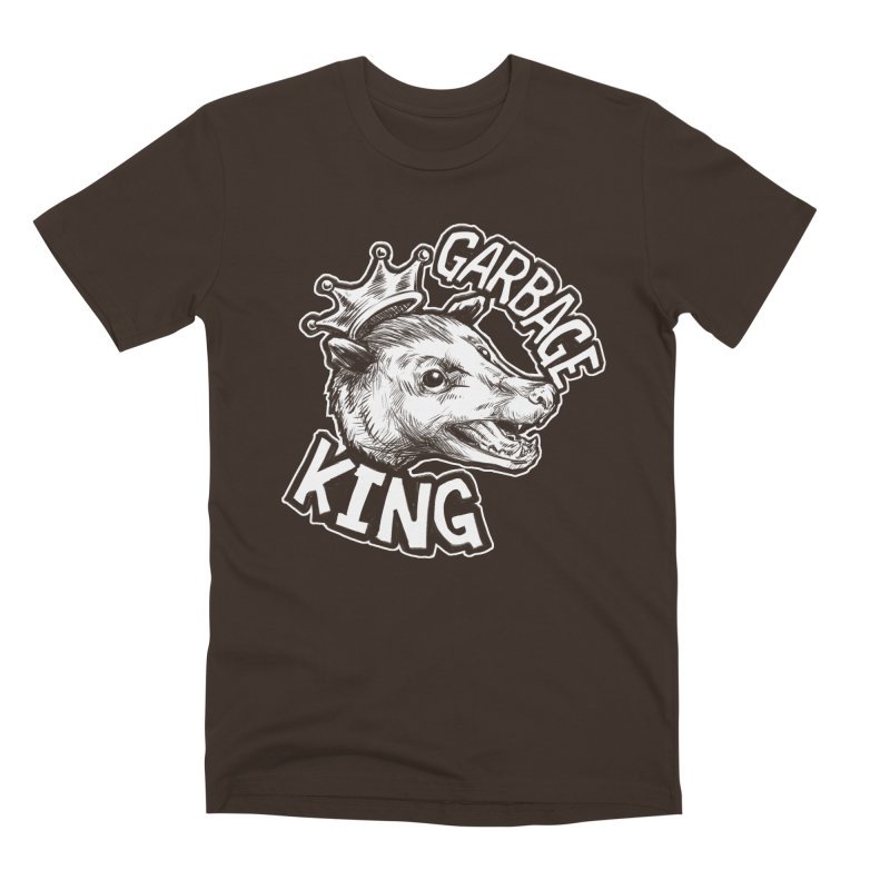 Garbage King (White) Men's Premium T-Shirt by Octophant's Artist Shop