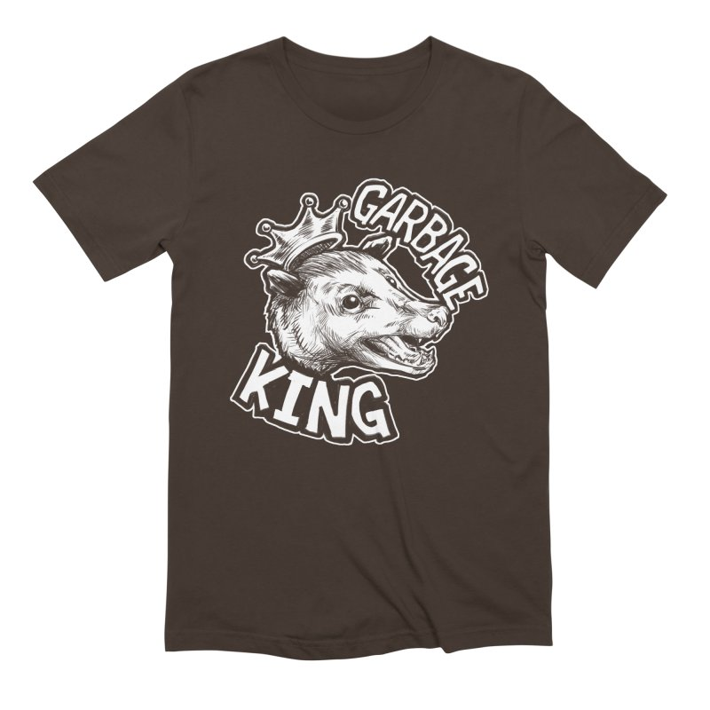 Garbage King (White) Men's Extra Soft T-Shirt by Octophant's Artist Shop