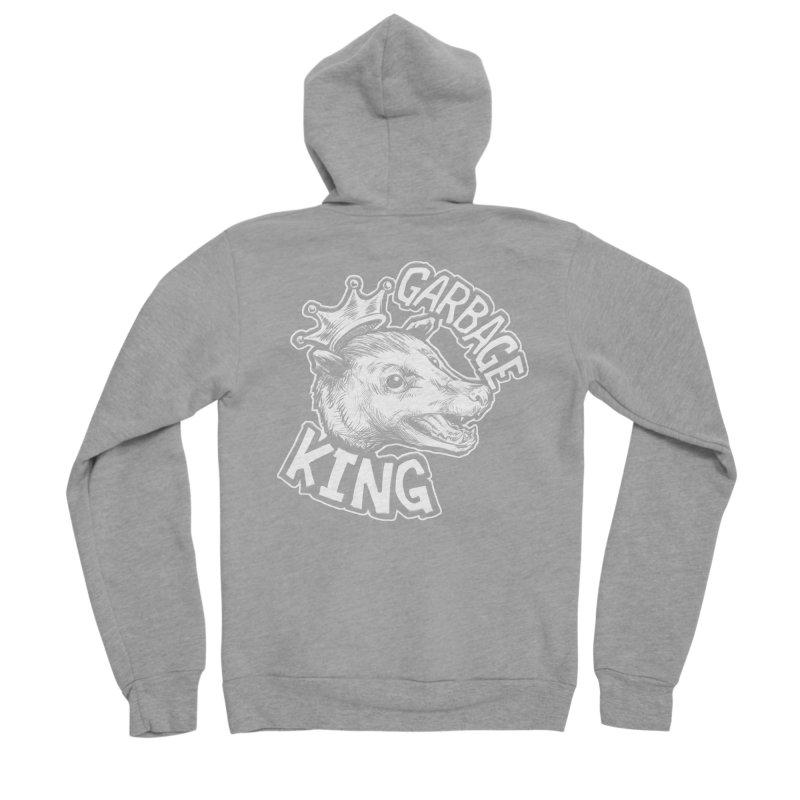 Garbage King (White) Men's Sponge Fleece Zip-Up Hoody by Octophant's Artist Shop