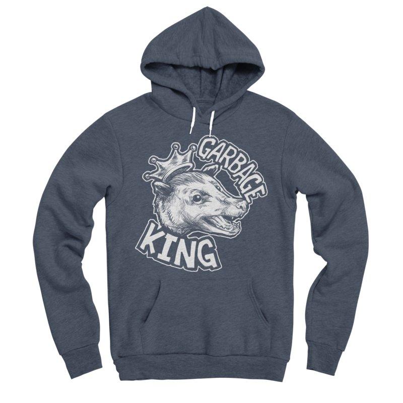 Garbage King (White) Women's Sponge Fleece Pullover Hoody by Octophant's Artist Shop