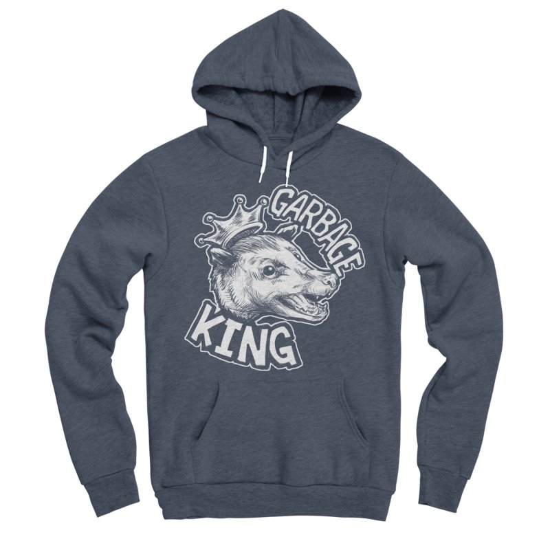 Garbage King (White) Men's Sponge Fleece Pullover Hoody by Octophant's Artist Shop