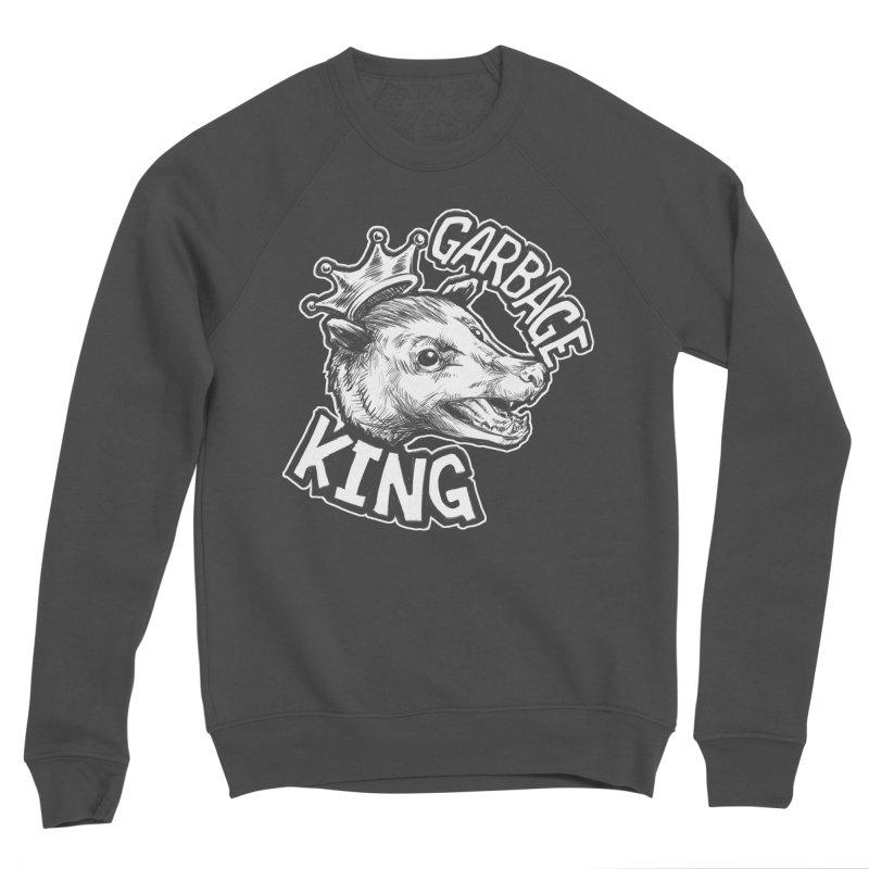 Garbage King (White) Women's Sponge Fleece Sweatshirt by Octophant's Artist Shop