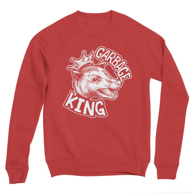 Garbage King (White) Men's Sponge Fleece Sweatshirt by Octophant's Artist Shop