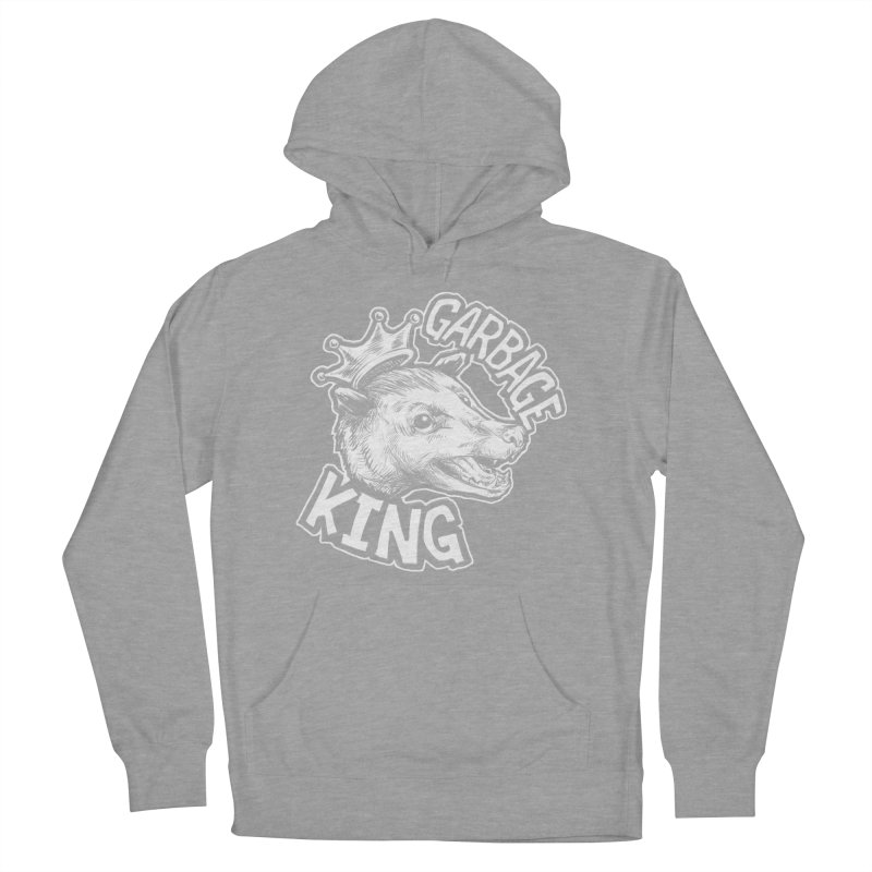 Garbage King (White) Women's French Terry Pullover Hoody by Octophant's Artist Shop