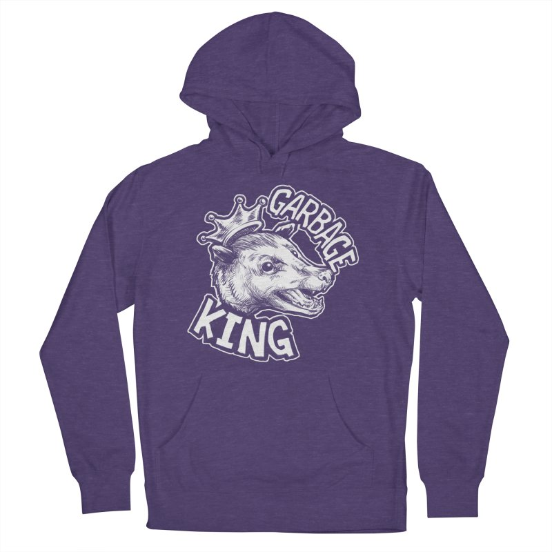 Garbage King (White) Men's French Terry Pullover Hoody by Octophant's Artist Shop
