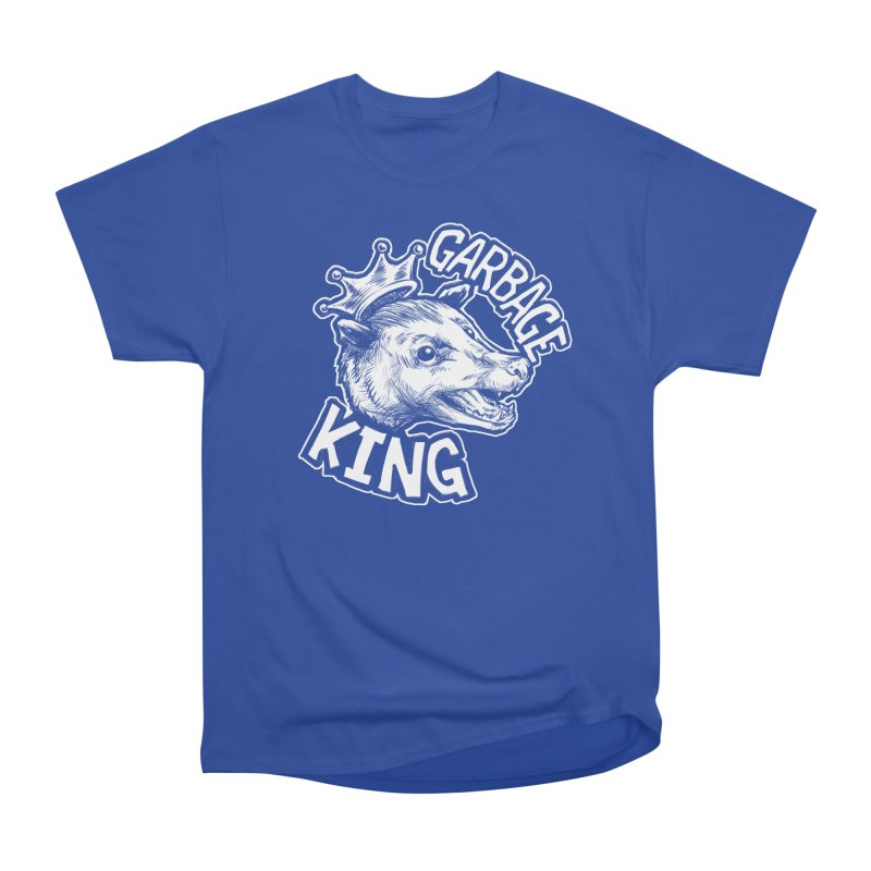 Garbage King (White) Women's Heavyweight Unisex T-Shirt by Octophant's Artist Shop