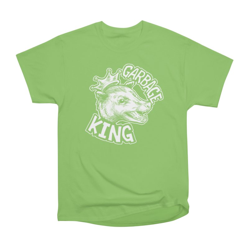 Garbage King (White) Men's Heavyweight T-Shirt by Octophant's Artist Shop