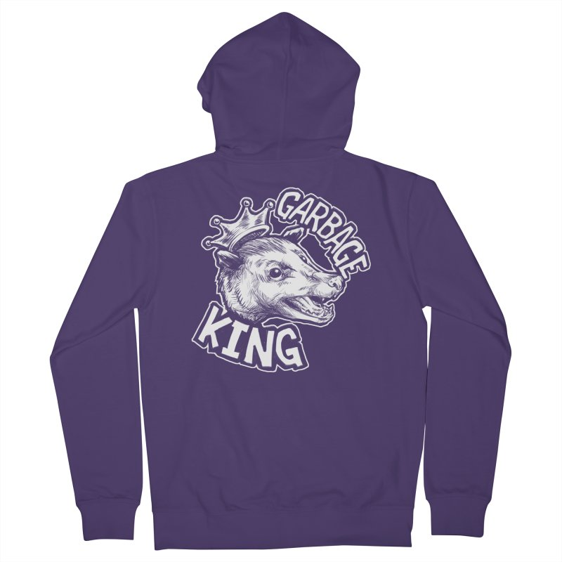 Garbage King (White) Women's French Terry Zip-Up Hoody by Octophant's Artist Shop
