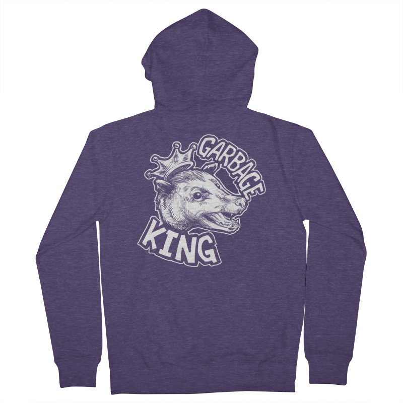 Garbage King (White) Men's French Terry Zip-Up Hoody by Octophant's Artist Shop