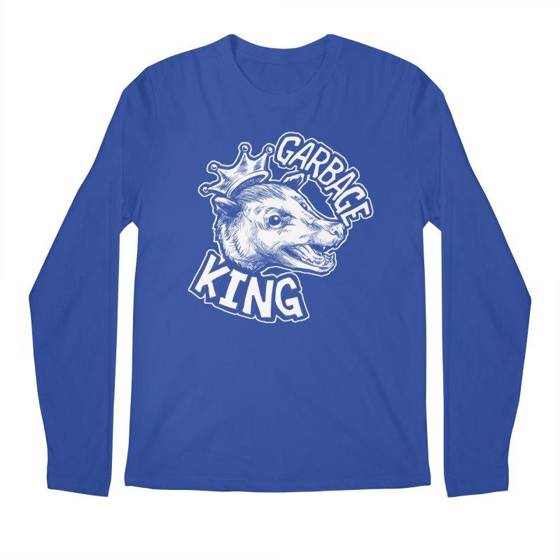 Garbage King (White) Men's Regular Longsleeve T-Shirt by Octophant's Artist Shop