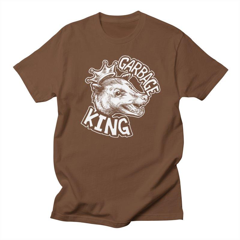 Garbage King (White) Women's Regular Unisex T-Shirt by Octophant's Artist Shop