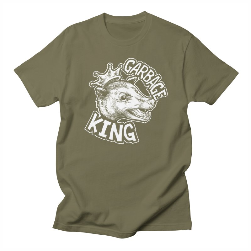 Garbage King (White) Women's Regular Unisex T-Shirt by Octophant's Artist Shop