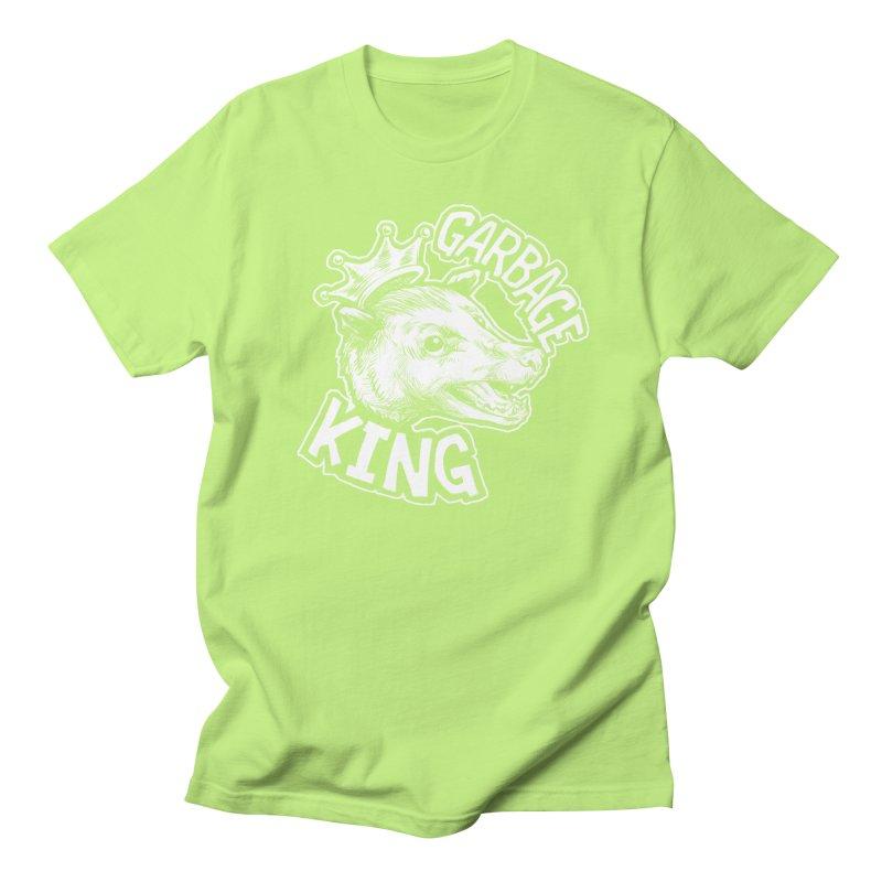 Garbage King (White) Men's Regular T-Shirt by Octophant's Artist Shop
