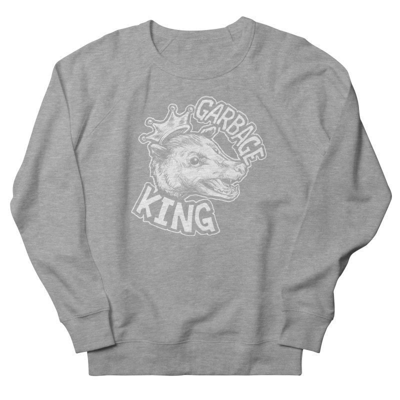 Garbage King (White) Men's French Terry Sweatshirt by Octophant's Artist Shop