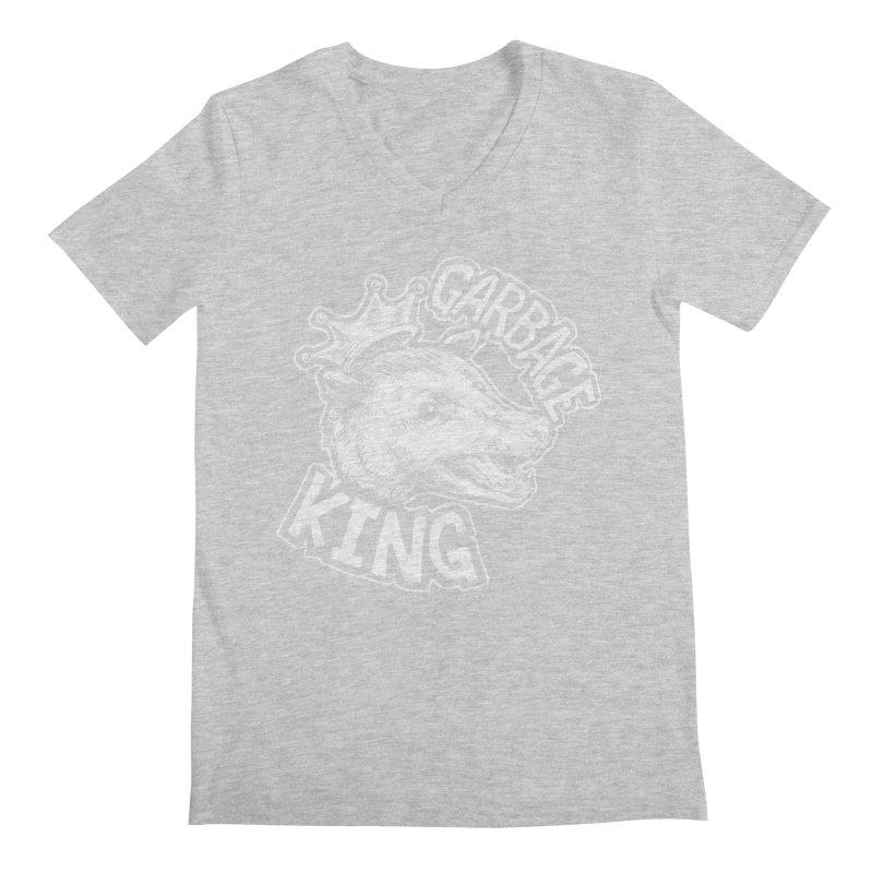 Garbage King (White) Men's Regular V-Neck by Octophant's Artist Shop