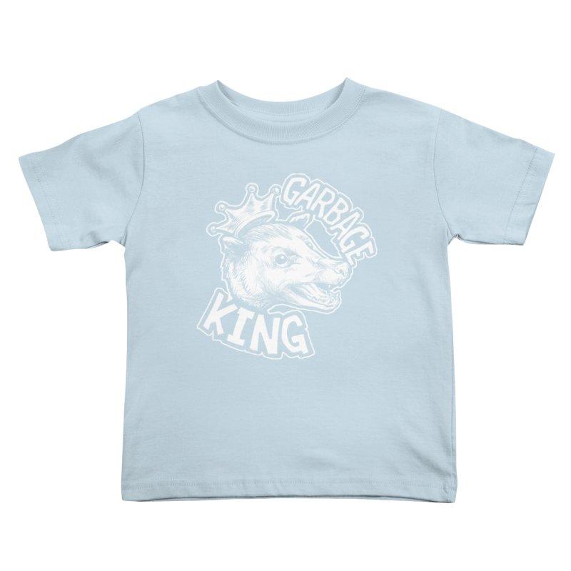 Garbage King (White) Kids Toddler T-Shirt by Octophant's Artist Shop