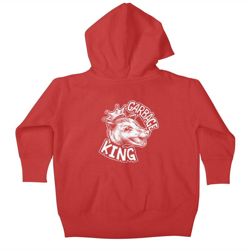 Garbage King (White) Kids Baby Zip-Up Hoody by Octophant's Artist Shop