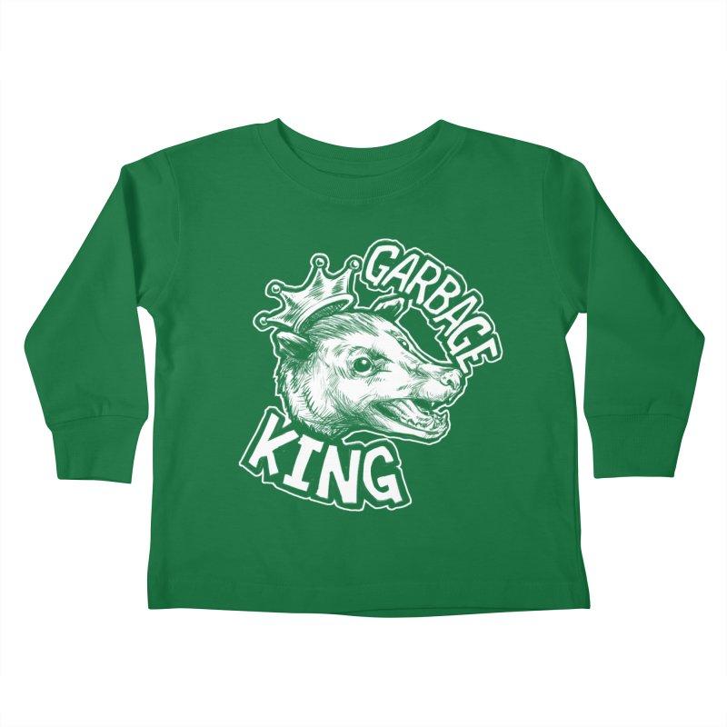 Garbage King (White) Kids Toddler Longsleeve T-Shirt by Octophant's Artist Shop