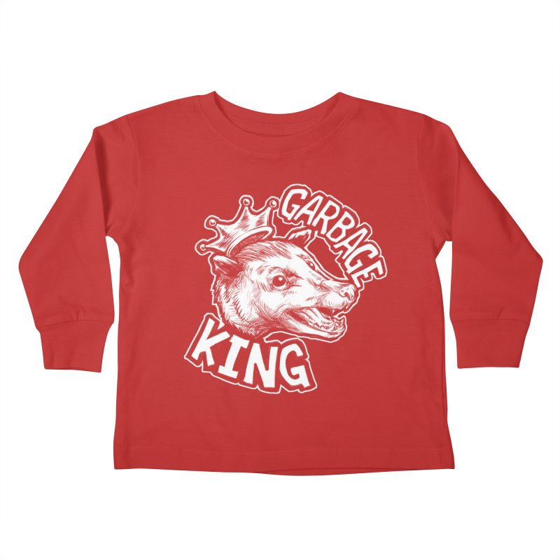 Garbage King (White) Kids Toddler Longsleeve T-Shirt by Octophant's Artist Shop
