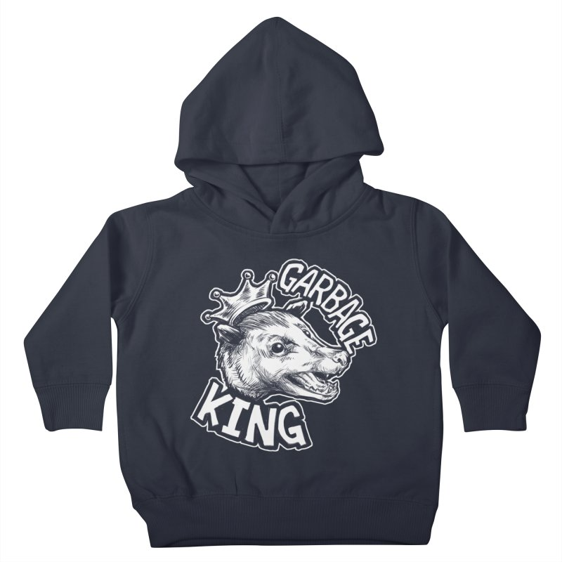 Garbage King (White) Kids Toddler Pullover Hoody by Octophant's Artist Shop