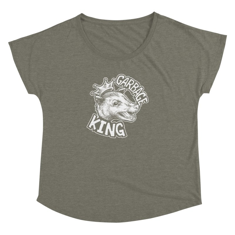 Garbage King (White) Women's Dolman Scoop Neck by Octophant's Artist Shop