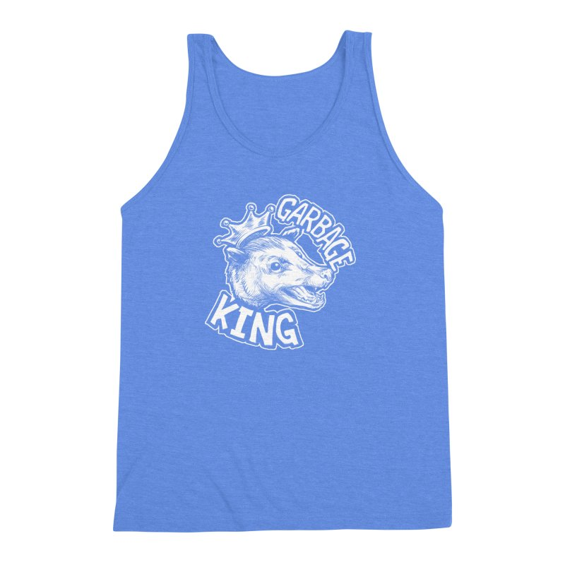 Garbage King (White) Men's Triblend Tank by Octophant's Artist Shop