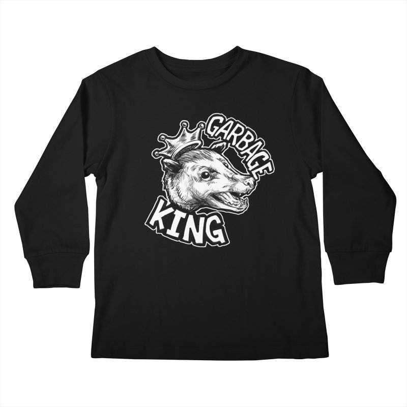Garbage King (White) Kids Longsleeve T-Shirt by Octophant's Artist Shop