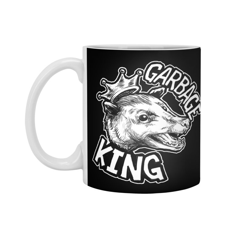 Garbage King (White) Accessories Standard Mug by Octophant's Artist Shop