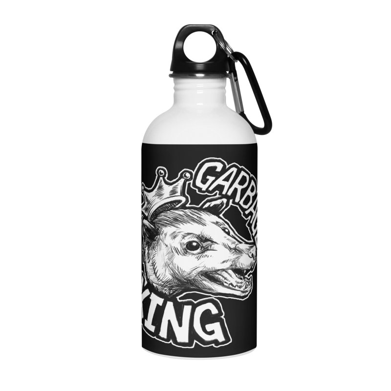 Garbage King (White) Accessories Water Bottle by Octophant's Artist Shop