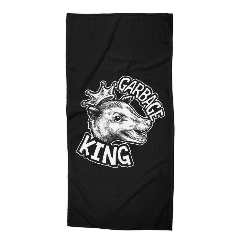 Garbage King (White) Accessories Beach Towel by Octophant's Artist Shop