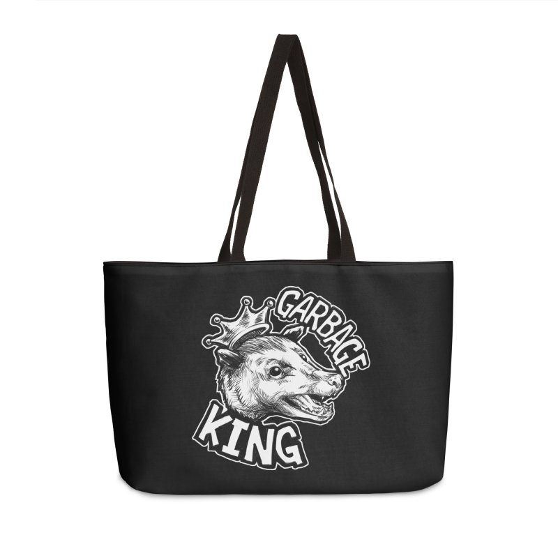Garbage King (White) Accessories Weekender Bag Bag by Octophant's Artist Shop