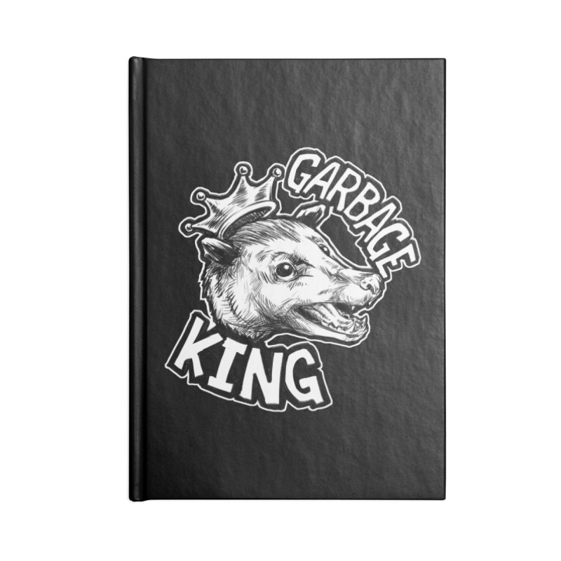 Garbage King (White) Accessories Notebook by Octophant's Artist Shop