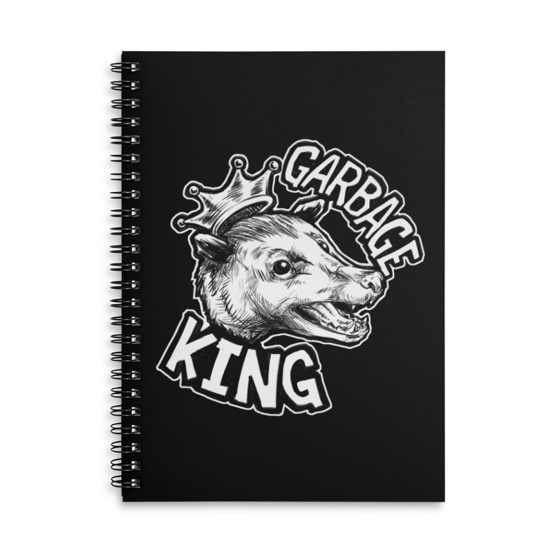 Garbage King (White) Accessories Lined Spiral Notebook by Octophant's Artist Shop