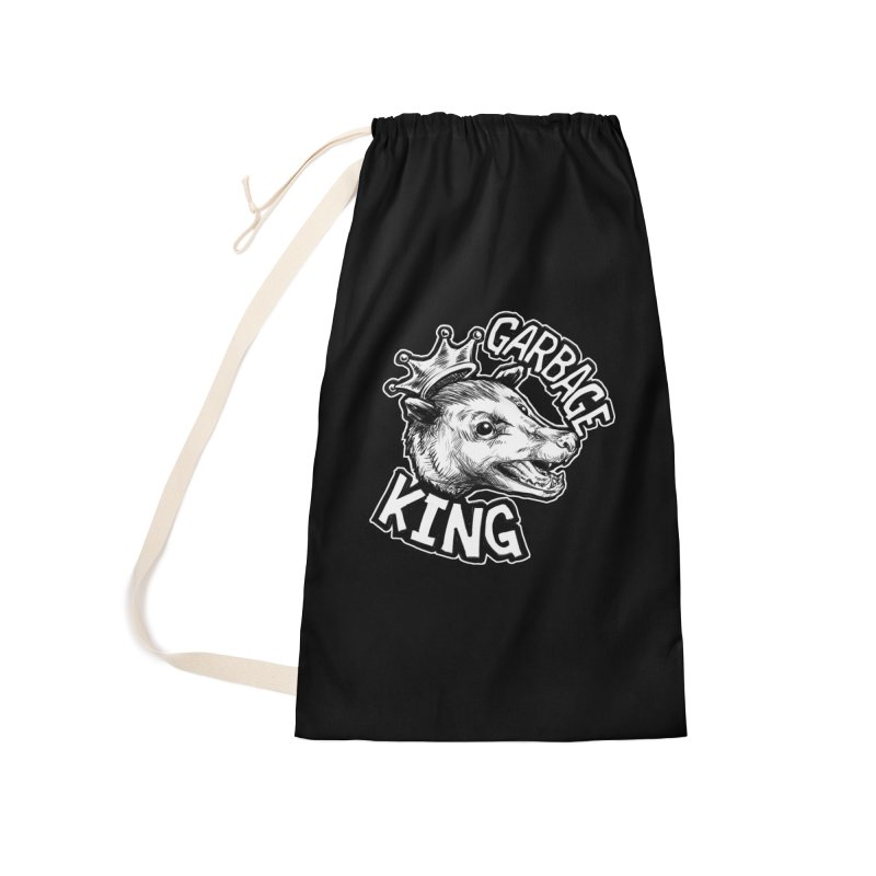Garbage King (White) Accessories Laundry Bag Bag by Octophant's Artist Shop