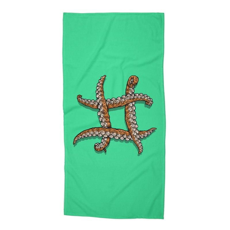 Octothorpe Accessories Beach Towel by Octophant's Artist Shop
