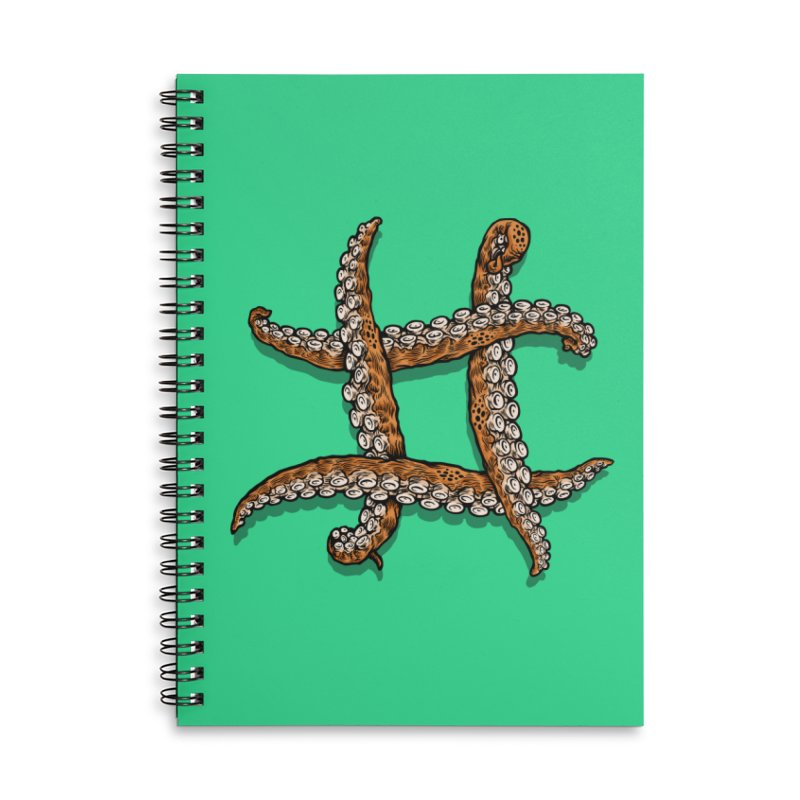 Octothorpe Accessories Lined Spiral Notebook by Octophant's Artist Shop