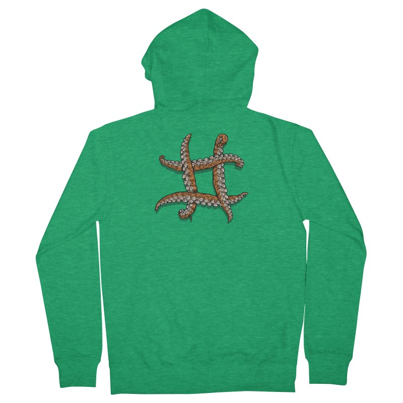 Octothorpe Men's French Terry Zip-Up Hoody by Octophant's Artist Shop