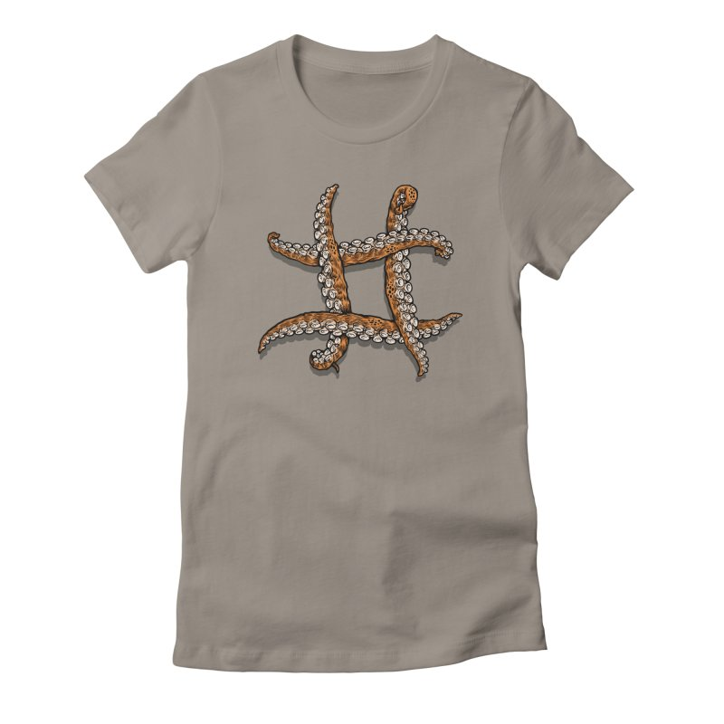 Octothorpe Women's Fitted T-Shirt by Octophant's Artist Shop