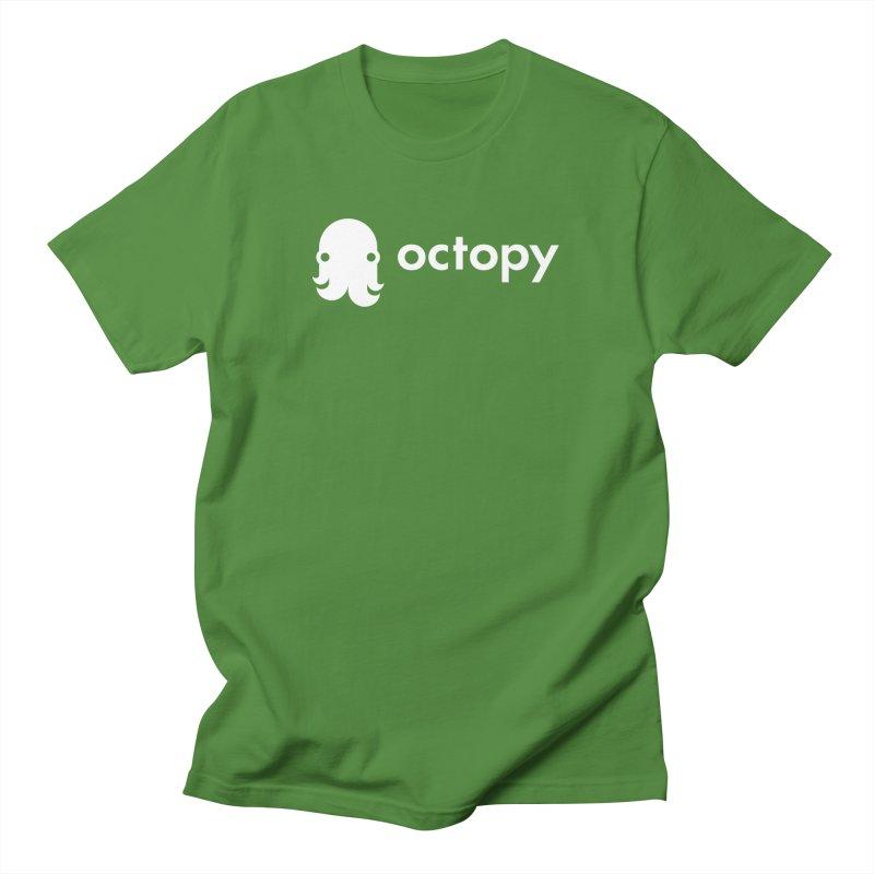 Octopy Logo White Men's T-Shirt by octopy