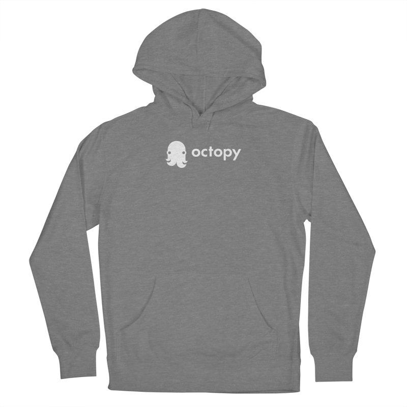 Octopy Logo White Women's Pullover Hoody by octopy