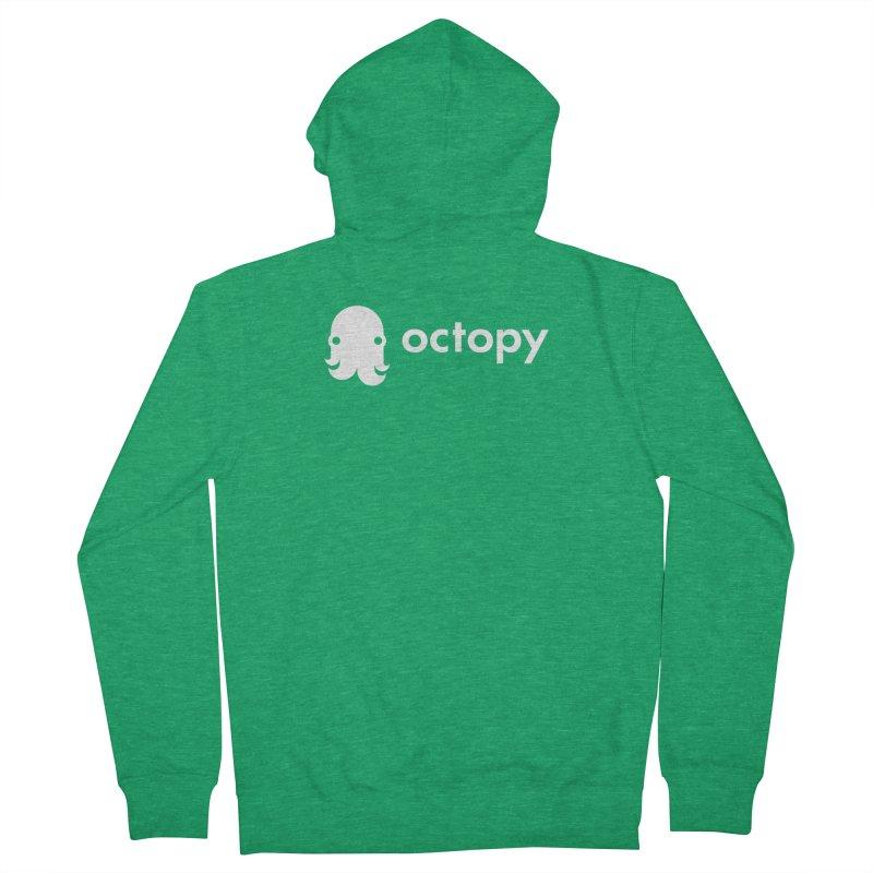 Octopy Logo White Women's Zip-Up Hoody by octopy
