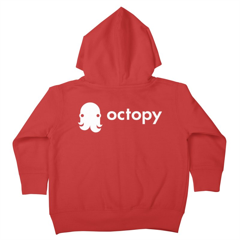 Octopy Logo White Kids Toddler Zip-Up Hoody by octopy
