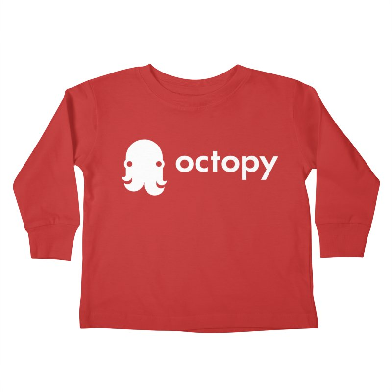 Octopy Logo White Kids Toddler Longsleeve T-Shirt by octopy
