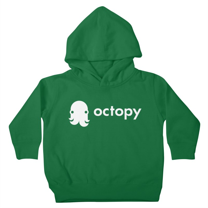 Octopy Logo White Kids Toddler Pullover Hoody by octopy