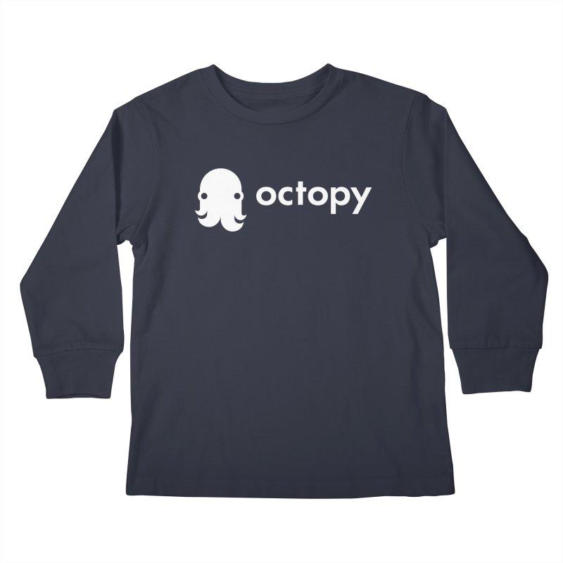 Octopy Logo White Kids Longsleeve T-Shirt by octopy