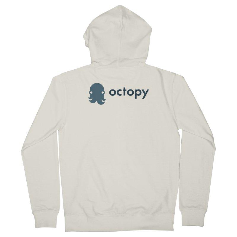 Octopy Logo Dark Men's Zip-Up Hoody by octopy