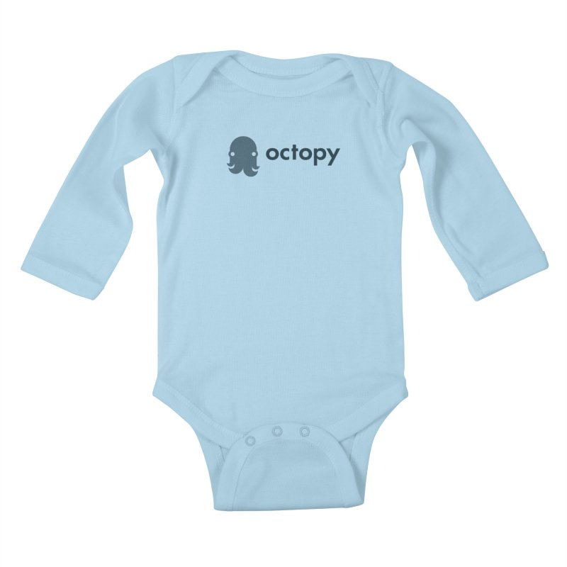 Octopy Logo Dark Kids Baby Longsleeve Bodysuit by octopy