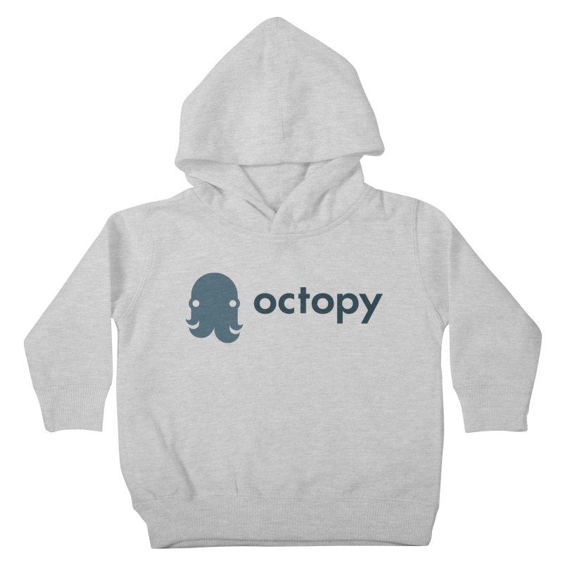 Octopy Logo Dark Kids Toddler Pullover Hoody by octopy