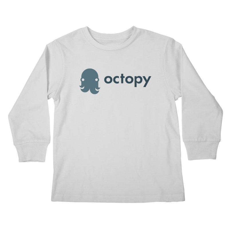 Octopy Logo Dark Kids Longsleeve T-Shirt by octopy