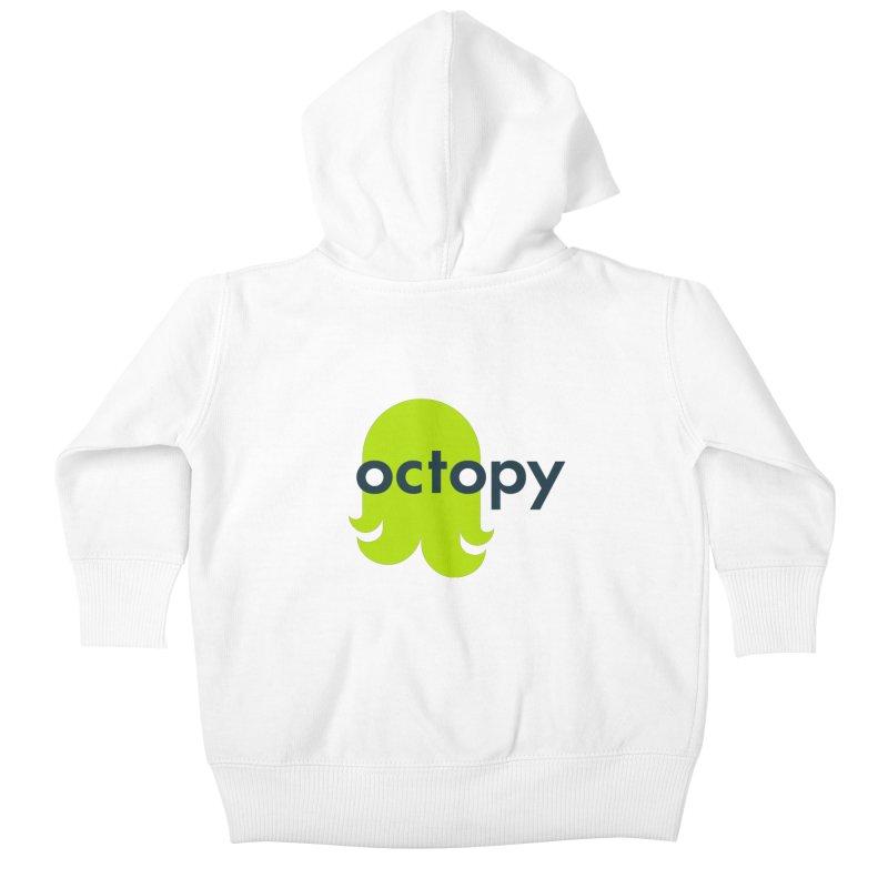 Green Oct-ulus Kids Baby Zip-Up Hoody by octopy